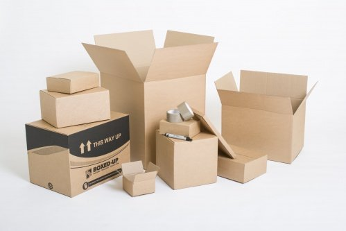 selection of cardboard boxes
