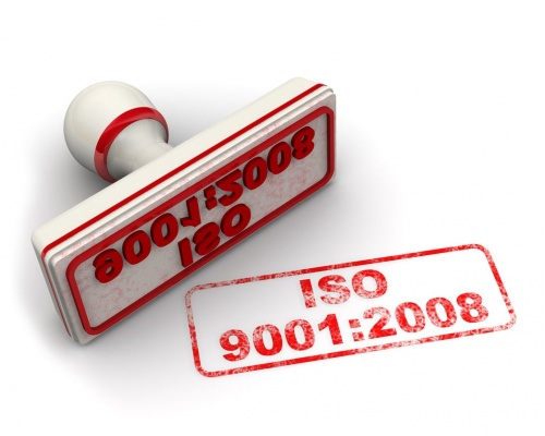 ISO 9001:2008 certification stamp