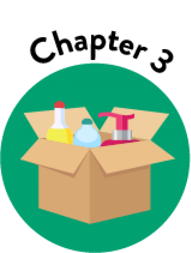 The Basics of Product Packaging Chapter 3 Icon Showing Box Packaging for Various Products