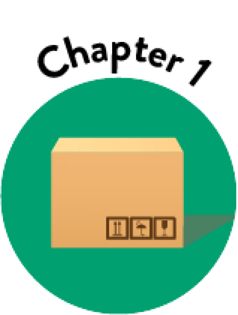 Basics of Product Packaging Chapter 1 Icon Showing Graphic of Cardboard Box
