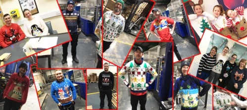 Belmont Packaging staff with Christmas jumpers on