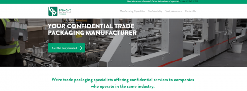 Brand New Trade Website From Belmont Packaging