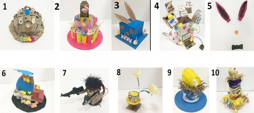 collection of Easter bonnet's