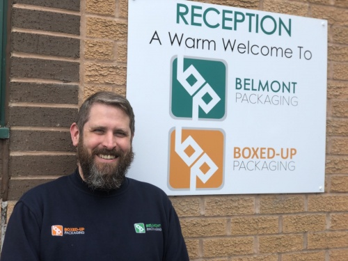 Gareth Rollo at Belmont Packaging