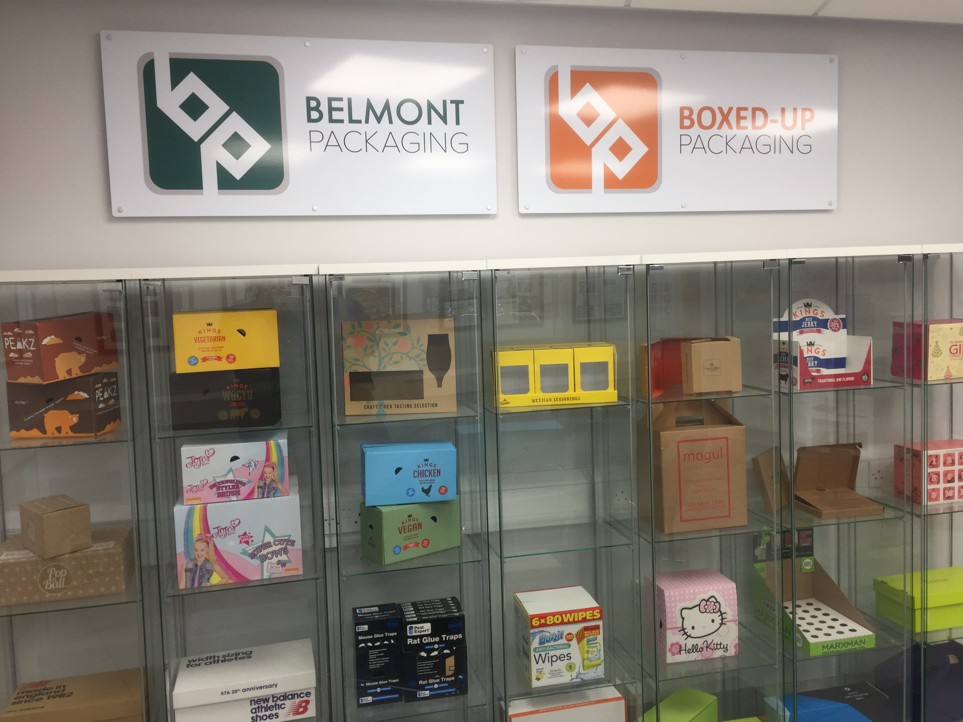 Belmont Packaging new Invisible Box on display in our Display Cabinet